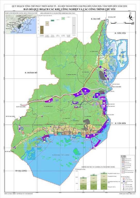 05. Bản đồ quy hoạch các khu công nghiệp và các công trình chủ yếu